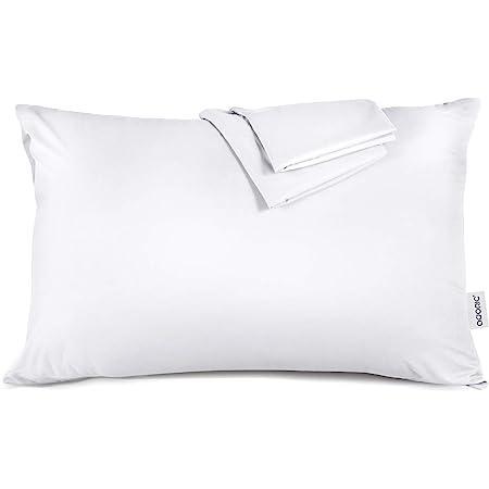 ADORIC Taie d'oreiller 50x70 [Lot de 2] Taie d'oreiller 100% Coton Doux Confortable 50cmx70cm