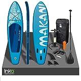 Inka Premium Makani - Tabla de surf inflable para surf (320 x 82 x 15 cm, peso de hasta 150 kg, incluye kit de reparación y accesorios (azul)