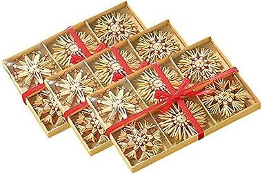 Kosoree 72 Étoiles en Paille pour Sapin de Noël