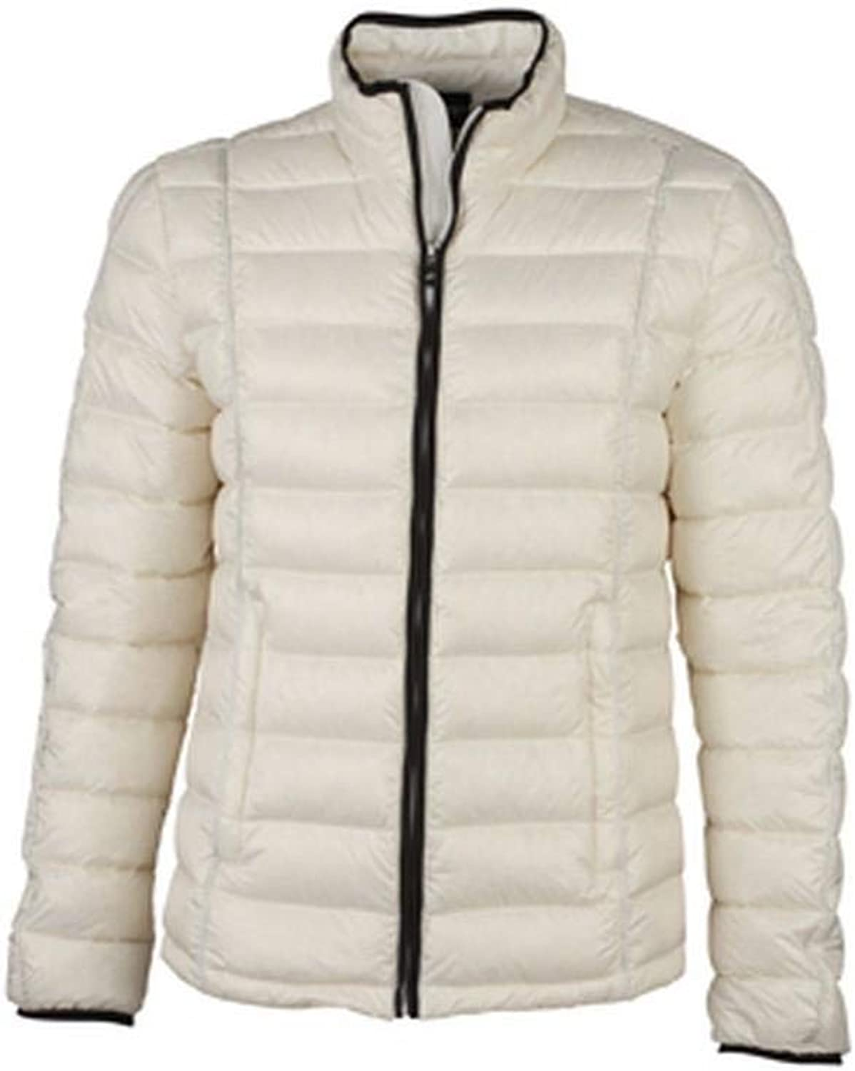 James and Nicholson Mens Contrast Quilted Down Jacket