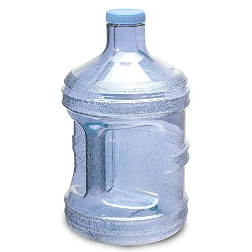 """For Your Water 1 Gallon 3.7 Liter BPA Free Plastic Reusable Sport Water Bottle Container Jug with Handle and with 48MM Screw Cap 6.5"""" x 11. 5"""" - Blue"""