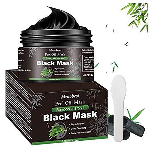 Blackhead Remover Maske, Peel off Maske, Mitesser Maske, Charcoal Mask, Black Mask, Gegen unreine Haut, Akne, fettige Haut& Mitesser, Natural Gesicht & Körper Maske - 120g/4.2 fl.oz