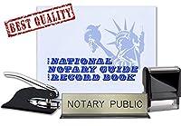 公証人ジャーナル、セルフInkingスタンプ、ブラックポケットシールEmbosser, and notary publicデスクSignバンドル| Nevada