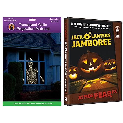Kringle Bros AtmosFearFX Jack-O-Lantern Jamboree Halloween DVD and Reaper Brothers High Resolution Window Projection Screen