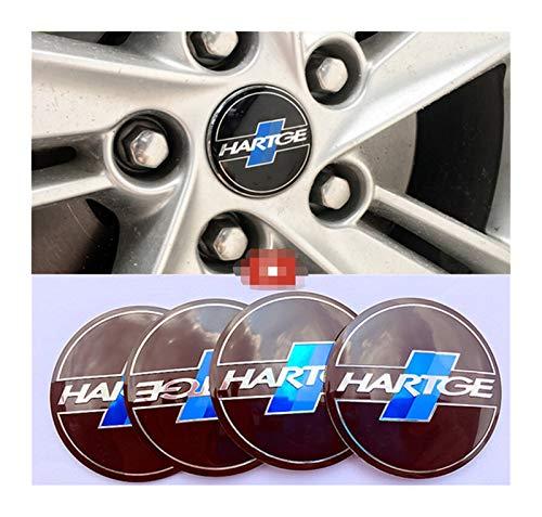 Tapas centrales para llantas 4 unids con la etiqueta de la rueda de la rueda del automóvil Etiquetado Etiquetado Emblema Pegatina Estilo compatible con BMW HARTGE E46 E39 E90 E36 E34 F10 F15 E53 X5 X6