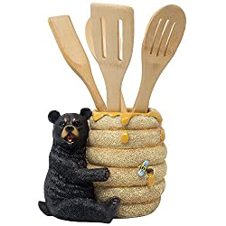 Black Bear Utensil Holder