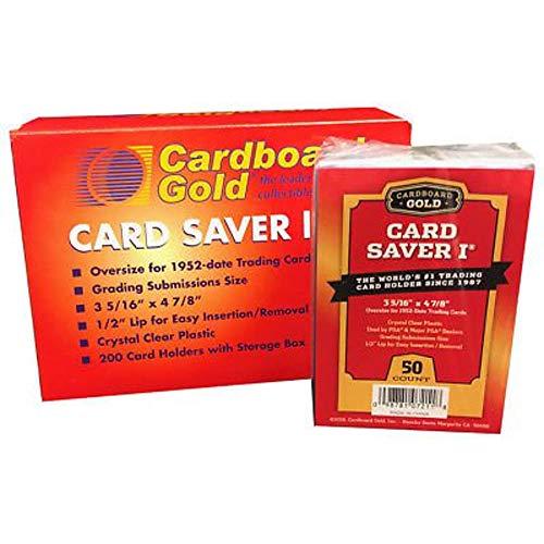 Card Saver 200 Cardboard Gold 1 Semi-rigid Card Holders -PSA Submission Size
