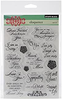 Penny Black Decorative Rubber Stamps, Eloquence (30-162)