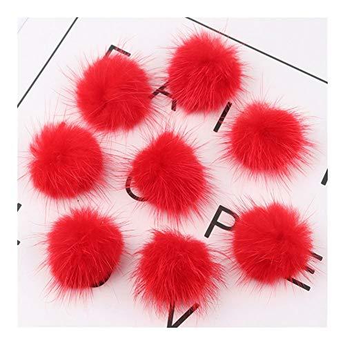 WEIGENG 30/40 mm, pompón, suave, cómodo, pompón, para ropa, pendientes (color: rojo, tamaño: 30 mm, 10 unidades)