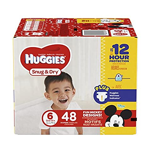 Huggies Snug and Dry Diapers, Size 6, 48 Count (Packaging May - Sale: $28.52 USD (13% off)