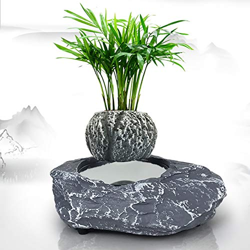 Light Bonsai-bloempot, drijvend, met magneetophanging, creatief design, thuisdecoratie