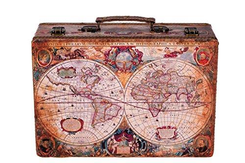 Sarah B Truhe Kiste KD 1288 Koffer, Kofferset, Holztruhe mit edlem Leder bezogen Größe XL 36cm