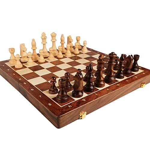 Cutfouwe AjedrezProfesional,ChessSetWooden, Ajedrez Juego de ajedrez Grande Plegable clásicos,45cm