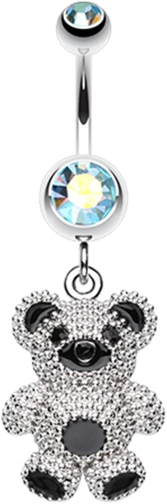 Covet Jewelry Adorable Teddy Bear Belly Button Ring