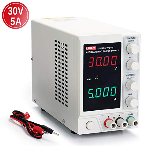 UNI-T 30V 5A Linear Power Supply, UTP3315TFL-II Regulated DC Power Supply, 4 Digital LED with...