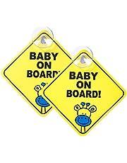 Meowoo Pegatinas Bebe para el Coche Pegatina Baby on Board, Resistente al Calor Sin Desvanecimiento