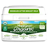 Happy Baby Organic Stage 2 Infant Formula Milk Based Powder with Iron, 21 Ounce Organic Formula Dual Prebiotics, Milk Based Powder, Non-GMO Gluten Free, No Corn Syrup Solids