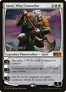 Magic: The Gathering - Ajani, Wise Counselor - Foil - Planeswalker Deck Exclusive - Core Set 2019