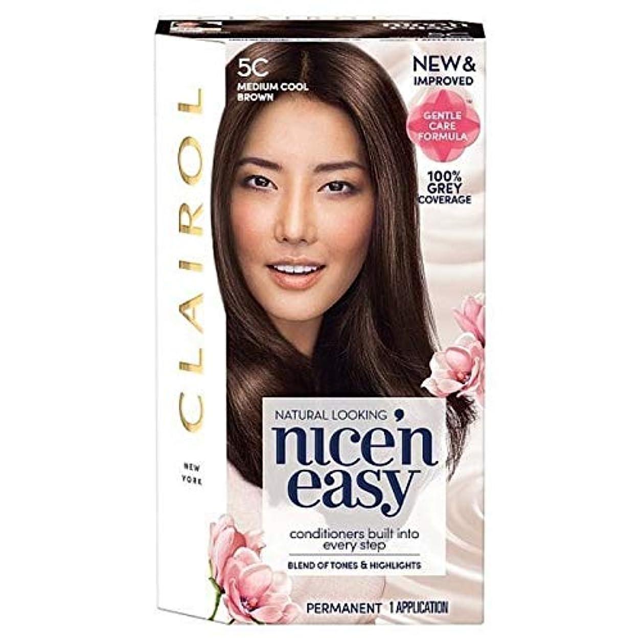 排出アナリスト気性[Nice'n Easy] Nice'N簡単な図5C媒体クールブラウン - Nice'n Easy 5C Medium Cool Brown [並行輸入品]