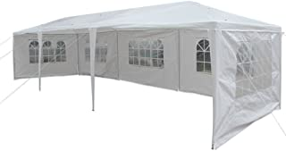 Detailorpin Canopy Tent,  Outdoor Party Event Wedding Tent Waterproof Sun Shelter Canopy White (US Stock) (3 x 9m Eight Sides)