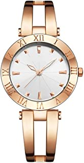 Wangyr Women's Girl Lady Simple Hollow Ultra-thin 8mm Quartz Watch 35mm Solid Steel Belt Casual Fashion Waterproof Holiday Gift 3ATM Silver Rose Gold Unique Fashion Classic Casual Luxury Business Dres