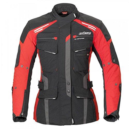 Büse Torino Evo Damen Jacke schwarz rot Größe 42
