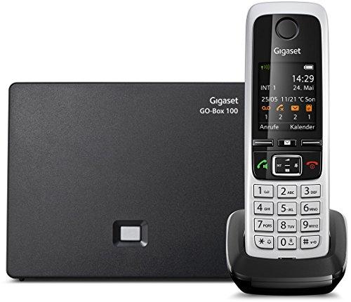 Gigaset C430A GO - Schnurlostelefon mit Anrufbeantworter - Analog und IP-Telefon, Fritzbox kompatibel - Mobilteil mit brilliantem Farbdisplay - DECT-Telefon für Router, schwarz