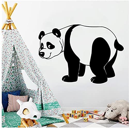 WYLYSD Panda Calcomanía Mural Cartel Sala De Estar Niños Habitación Pegatina Decoración Del Hogar Decoraciones De Pared Sala De Estar 57 Cm X 80 Cm