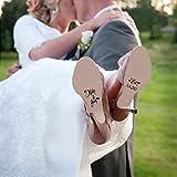 mairgwall personalizado único zapatos de boda zapatos adhesivo adhesivo decoración para novia y novio