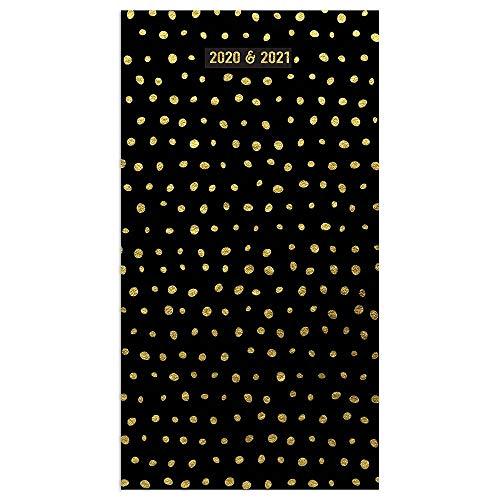 2020-2021 Golden Dots 2-Year Small Pocket Planner Calendar