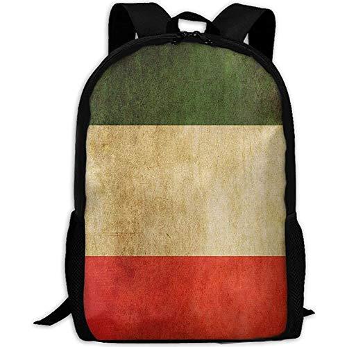 G.H.Y Alte italienische Flagge Erwachsene Reiserucksack Schule Casual Daypack Oxford Outdoor Laptop Tasche College