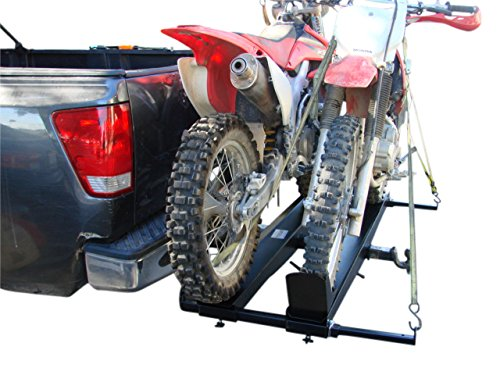 Extra Wide 1000lb Double DirtBike 2' Class 3 & 4 Tow Hitch Mount Carrier Rack For SUVs, Vans, Or...