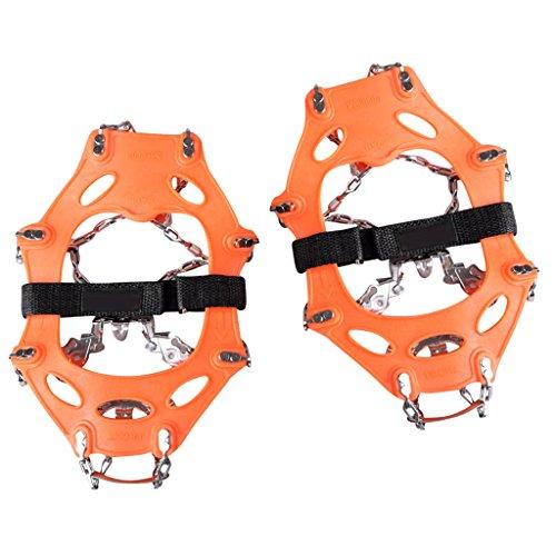 MagiDeal MagiDeal (1 Paar Schuh Spikes Schneeketten für Schuhe EU-Größe 35-45 mit 16 Zähne, Anti Rutsch Spikes für Outdoor Ski EIS Schnee Wandern Klettern