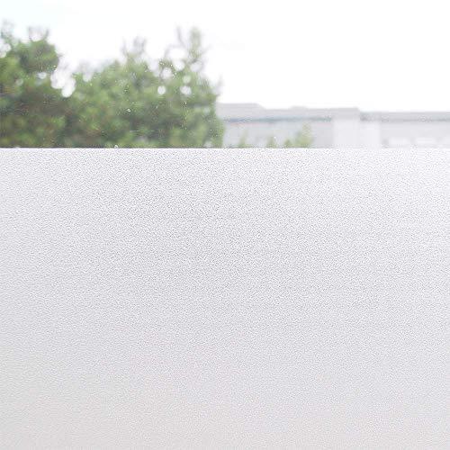 Tamia-Home statische Fensterfolie Universal Sichtschutzfolie UV Schutz 99% Reduziert selbstklebend Milchglas S001(60 * 100cm)