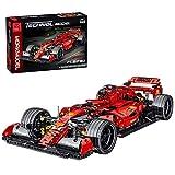 BGOOD Tecnica Formula 1 - Modellino di auto sportiva, 1100 pezzi FRR-F1 auto da corsa per Ferrari giocattolo da costruzione, compatibile con Lego Technic