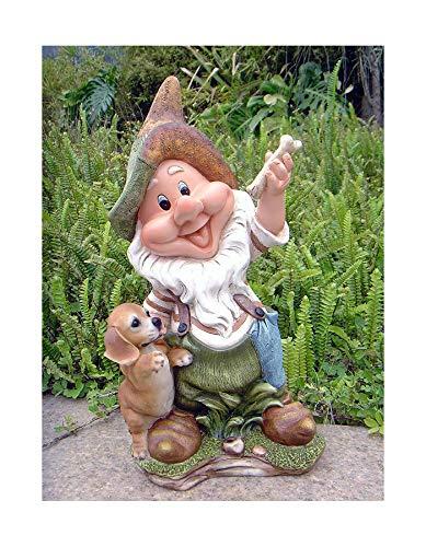 Design 11020 Zwerg 41 cm Hoch Deko Garten Gartenzwerg Figuren Dekoration verschiedene Design (11020- Design 4)