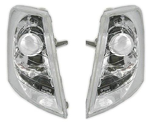 AD Tuning DEPO Frontblinker Set Klarglas Chrom + Leuchtmittel Blinker