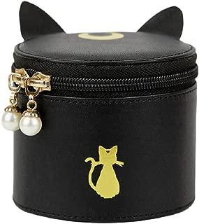GK-O Anime Sailor Moon Luna Black Cat Travel Make Up Cosmetic Bag PU Box portable Storage Case