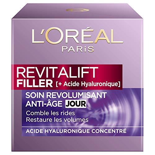 L'Oréal Paris - Revitalift - Filler - Soin Jour Revolumisant - Anti-Rides & Volume - Anti-Âge - Concentré en Acide Hyaluronique - 50 mL