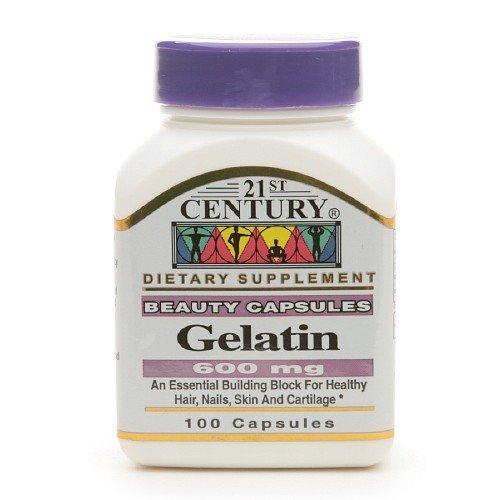 21st Century Gelatin 600mg, Beauty Capsules 100 capsules(pack of 2)