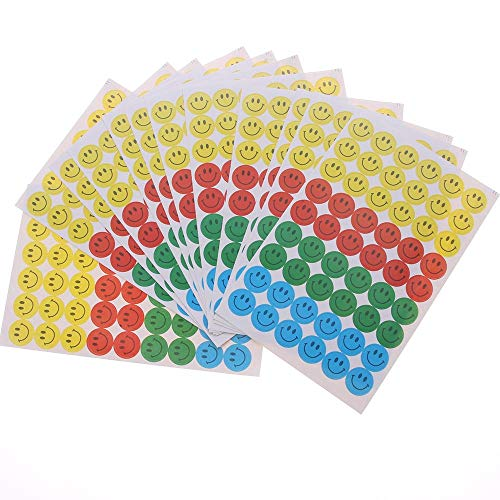 2020NEW 10 Sheets (540pcs) Smile Face Reward Stickers School Merit Praise Class Sticky Paper Lables Gifts