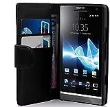 Cadorabo Coque pour Sony Xperia S, Noir DE Jais Fermoire Magnétique Housse de...