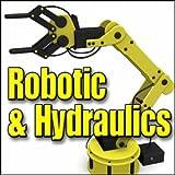 Industry, Robotics - Large Automated Robotic Arm: Constant Movements, Machine Noise in Background, Hydraulics, Servos & Robotics