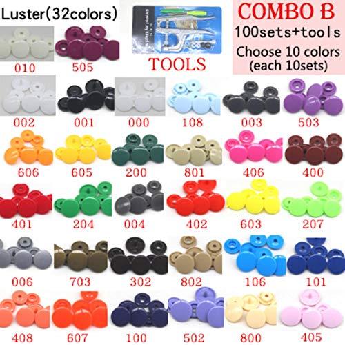 CHWK Fastener Plastic Snap Button T3 T5 Resin Button Press Stud For Baby Children