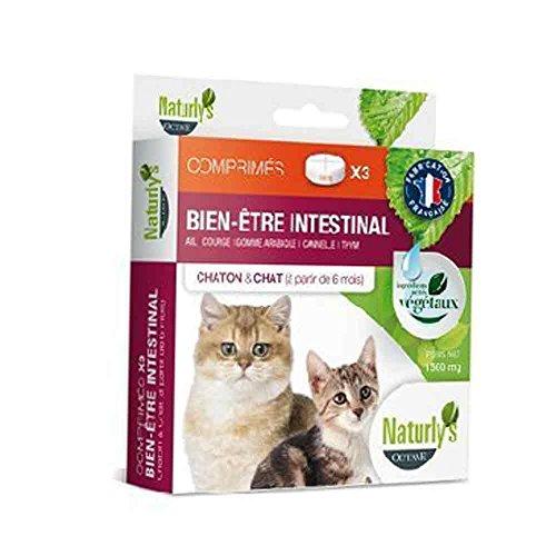 Naturlys Octave - Produit Naturel - Vermifuge chiens et chats naturel Naturly's Octave (3 comprimés...