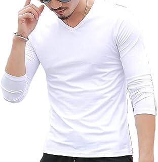 GAGA Men's Tagless Slim Fit Top Lightweight Muscle V Neck Long Sleeve Undershirts T-Shirts