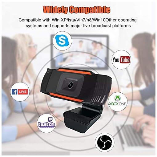 Webcam PC 1080P Full HD con Micrófono Estéreo, Portátil Cámara Web USB 2.0 Reducción de Ruido,Web CAM de Enfoque Fijo… 2