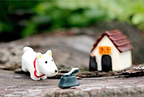 Oyedens 3pc Hada en Miniatura Perro Mundo Adornos Craft Accesorios casa jardín decoración de Interior.