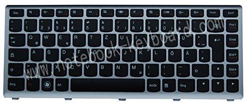 NExpert Orig. QWERTZ Tastatur für Lenovo IdeaPad U410 Serie DE Mit Silberne Rahmen NEU