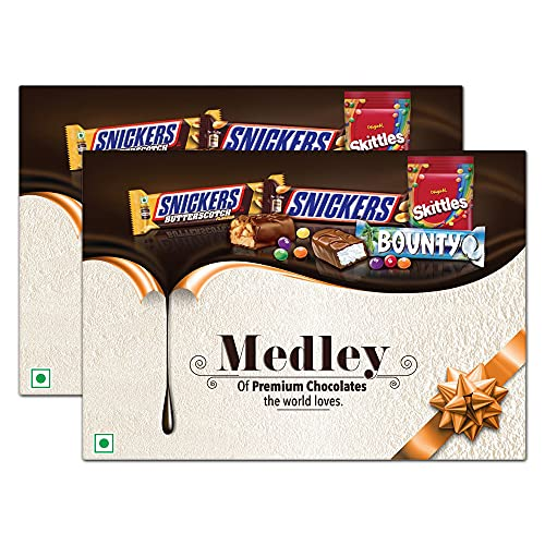 Medley Premium Chocolates Assorted Diwali Gift Pack, 263g ( Pack of 2)